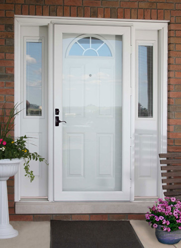 Storm doors protect from winter weather thompson creek for Exterior french storm doors