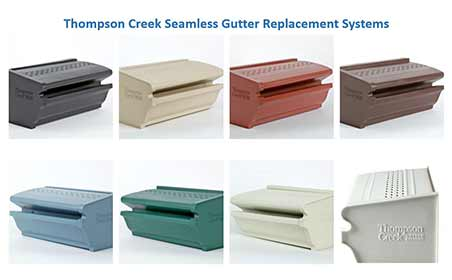 Thompson Creek Seamless Gutter Colors