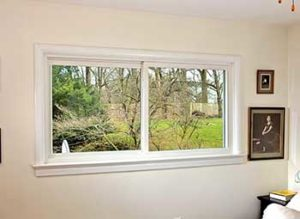 Horizontal Sliding Windows in Bedroom